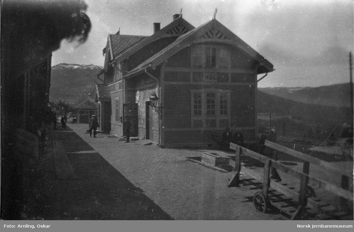Svenske studenter i Norge på studietur, her på Hol stasjon.