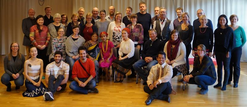 Fra instruktørkurs i konvensjonen om immateriell kulturarv, på Senter for folkemusikk og folkedans, Trondheim 2014.