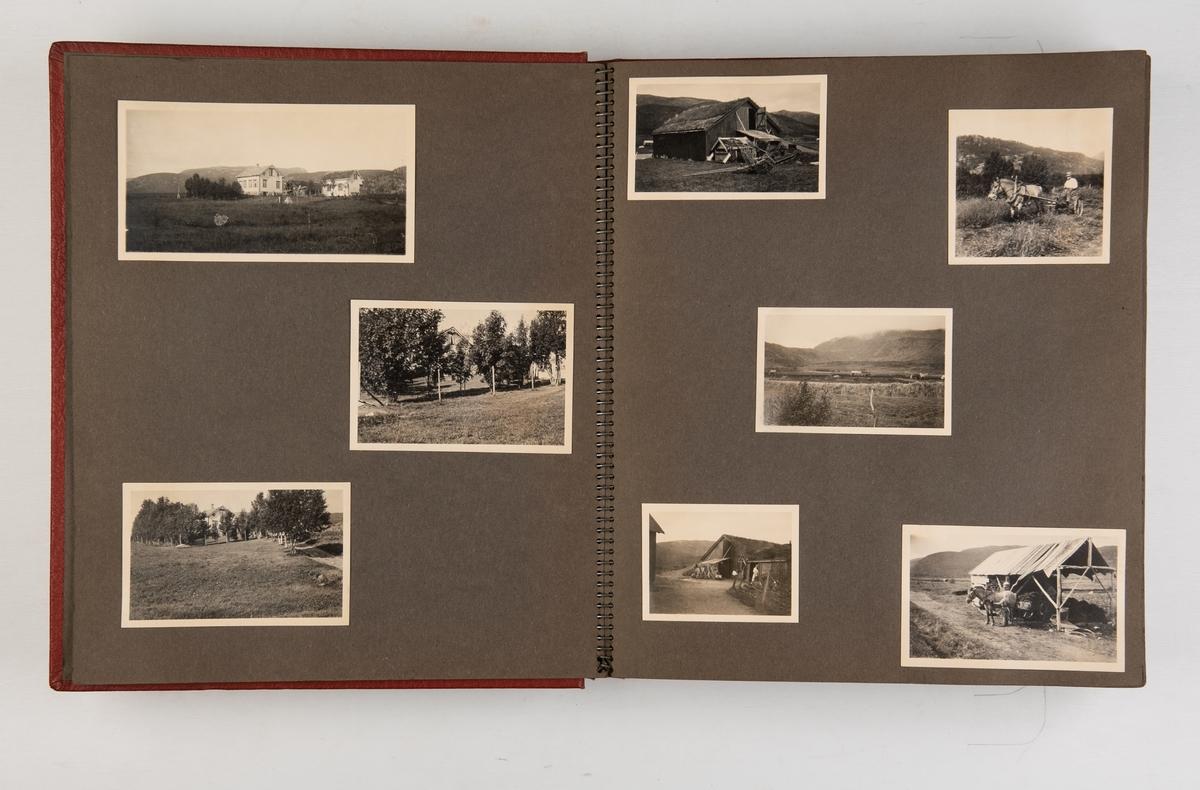 Privat fotoalbum med motiver fra Norge. Inneholder fotografier av bl.a. redningsskøyta 'Christian Bugge', losskøyta 'Skudenes', fergen 'Oscarsborg', nordlandsbåter, seilbåter og flere portretter. Bildene er antagelig fra 1930- og 1940-tallet