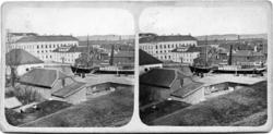 Bilden är tagen år 1862 över östra delen av Jönköping från n