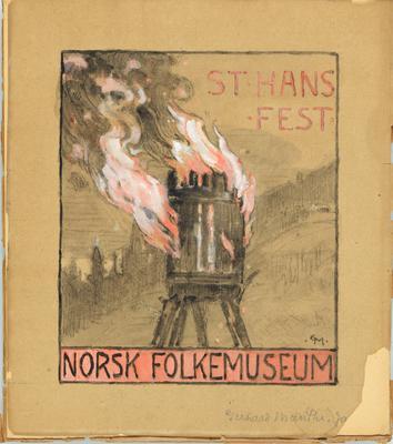 Gerhard Munthe: Plakat Sankthansfest 1916. Foto/Photo