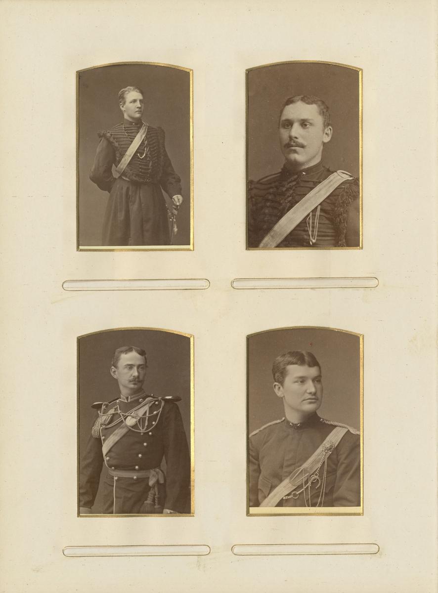Porträtt av okänd officer vid Jämtlands fältjägarkår.  Se även bild AMA.0002054.