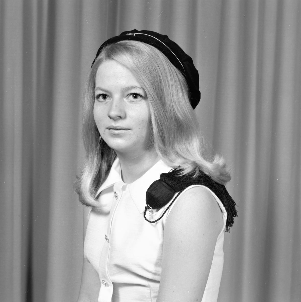 Portrett. Ung kvinne med studenterlue. Bestilt av Dagny Dankertsen. Norheim