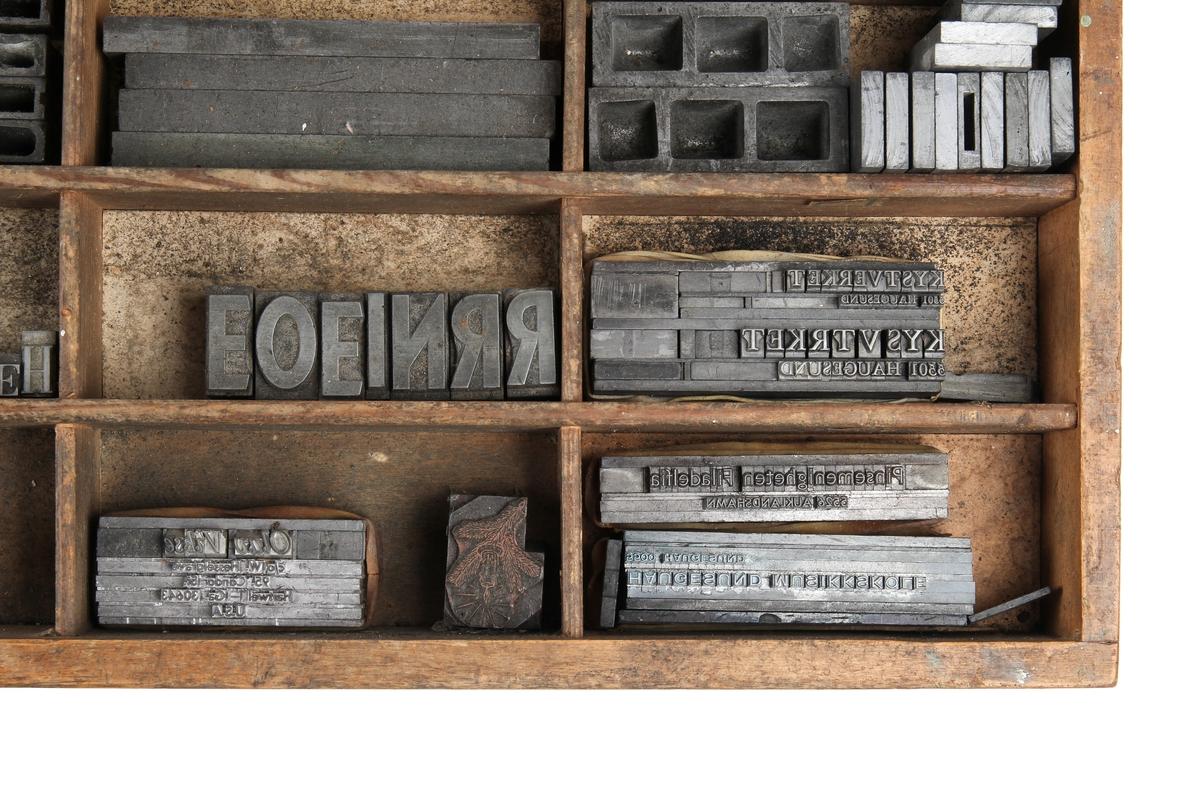 Kasse med blytyper