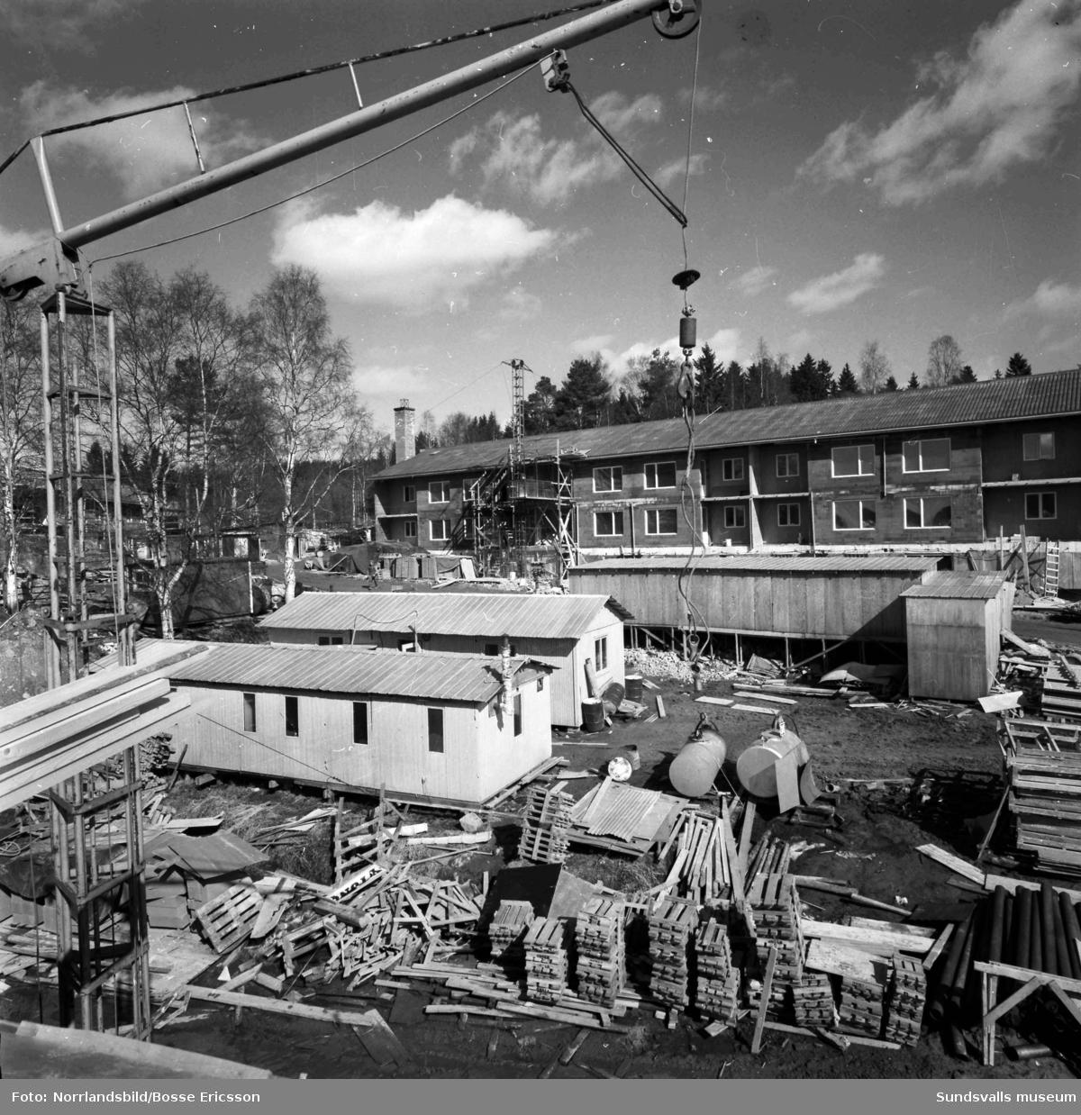 Byggnation av flerfamiljsfastigheter på Muninvägen i Granlo.