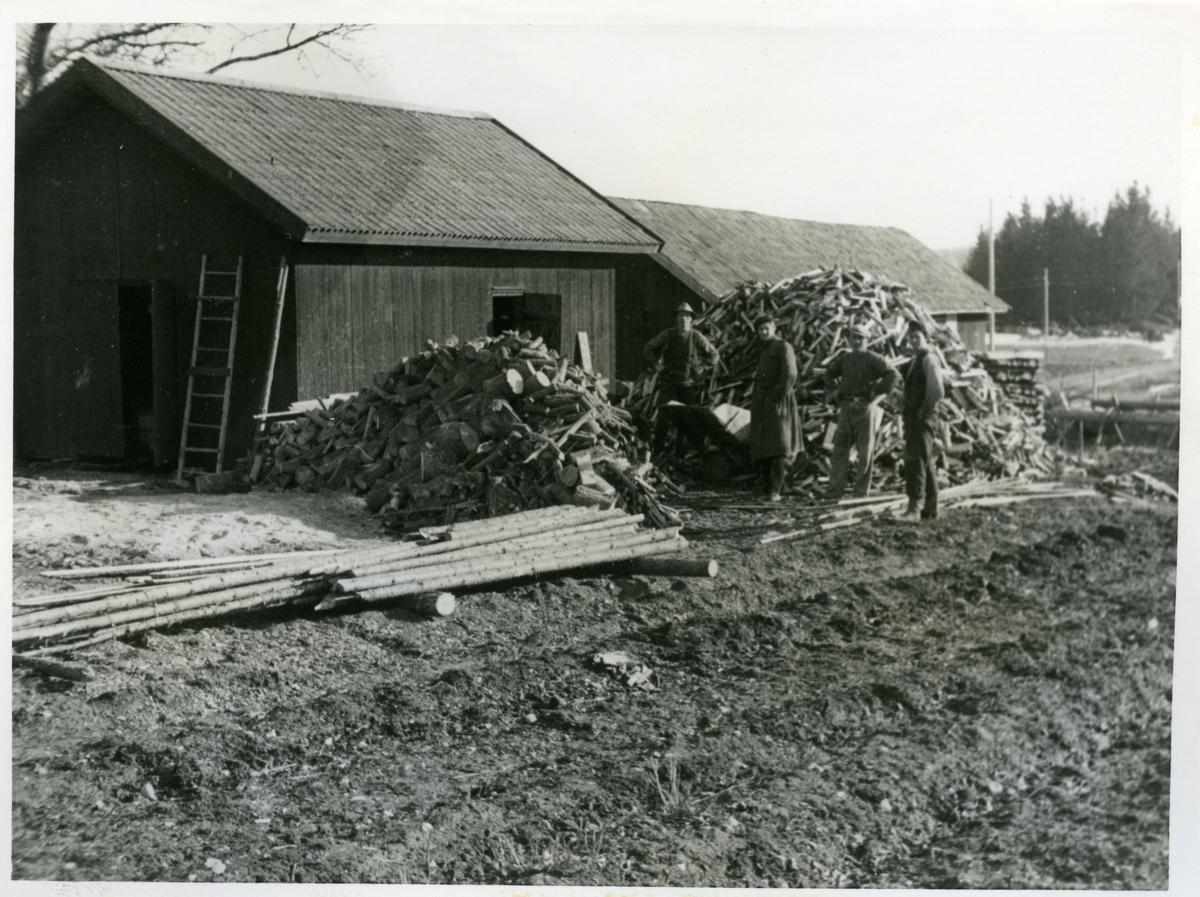 Munktorp sn, Köping, Vippeby. Vedhuggning, 1935.