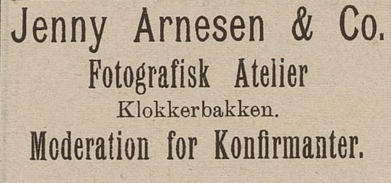 Annonse Jenny Arnesen (Foto/Photo)