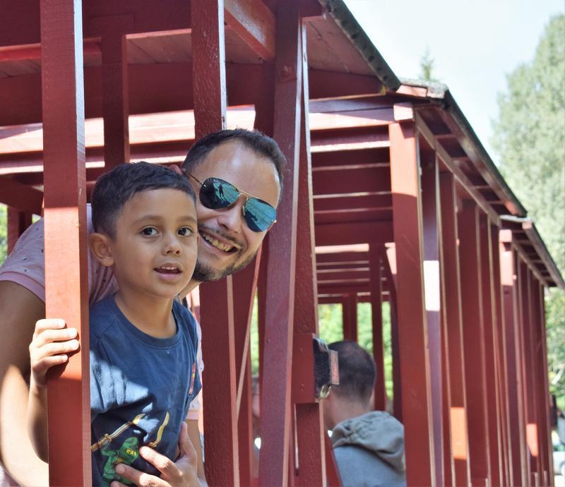 På tur med Lommedalsbanen (Foto/Photo)