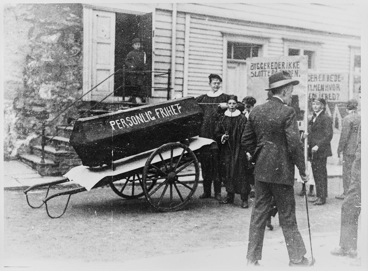 Russetoget 17. mai 1924 ved Kongsgård i Stavanger