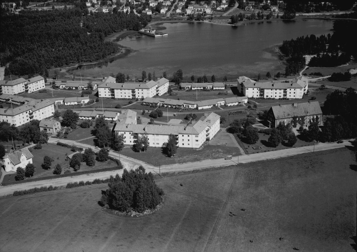 Flygfoto över Nässjö i Jönköpings län.  Nr: 1200/1957