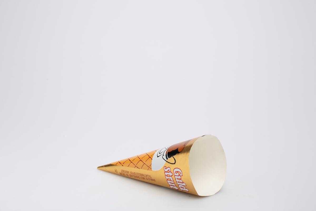 En iskrem i kjeks med ansikt.