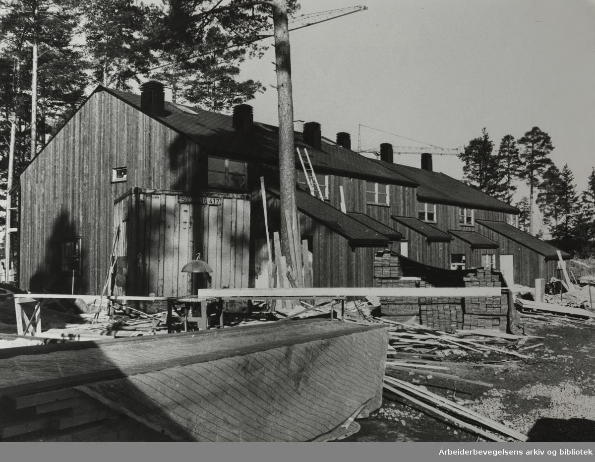 Nordstrand. De fem første leilighetene ved Nanna Maries hjem er klare for innflytting i mai. April 1980