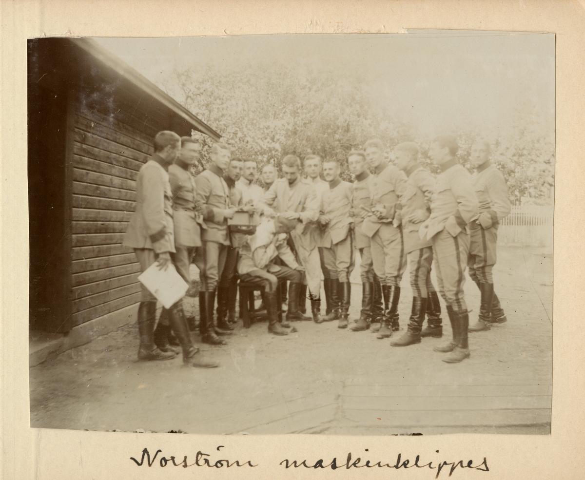 Norström maskinklippes.