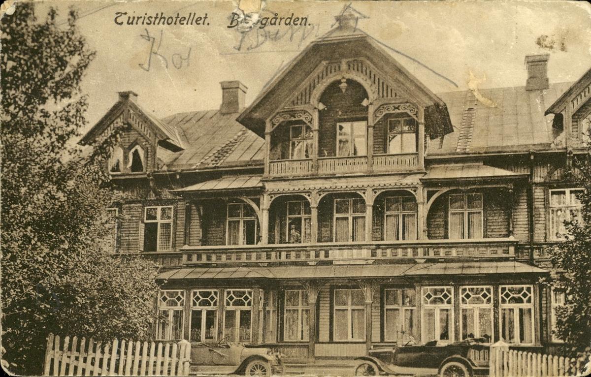 Vykort med motiv av Turisthotellet vid Bispgården.