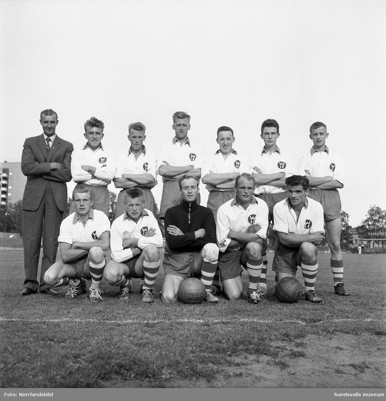 Viskans IF, lagbild från Lilla DM 1959. Idrottsparken i Sundsvall.