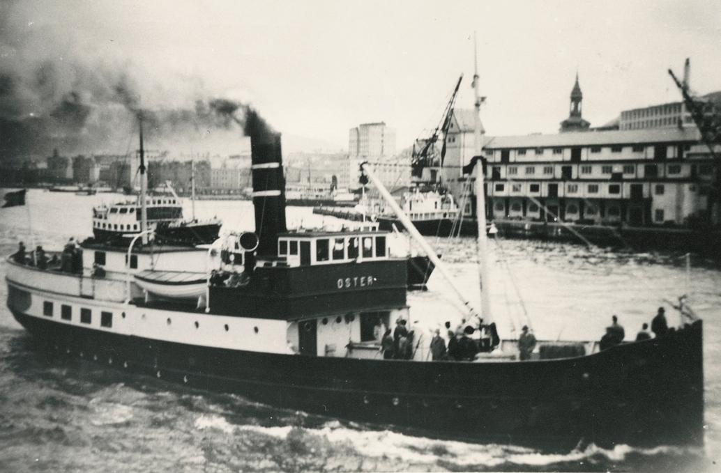 Motivet viser DS OSTER (bygget 1908).