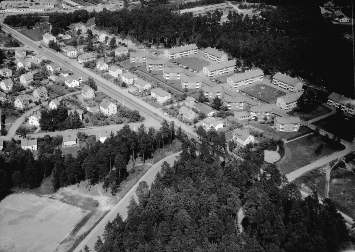 Flygfoto över Haga i Jönköping. Nr 1065/1961