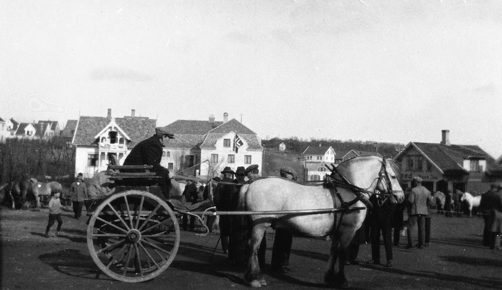 Marken på Bryne torg i 1930 åra.