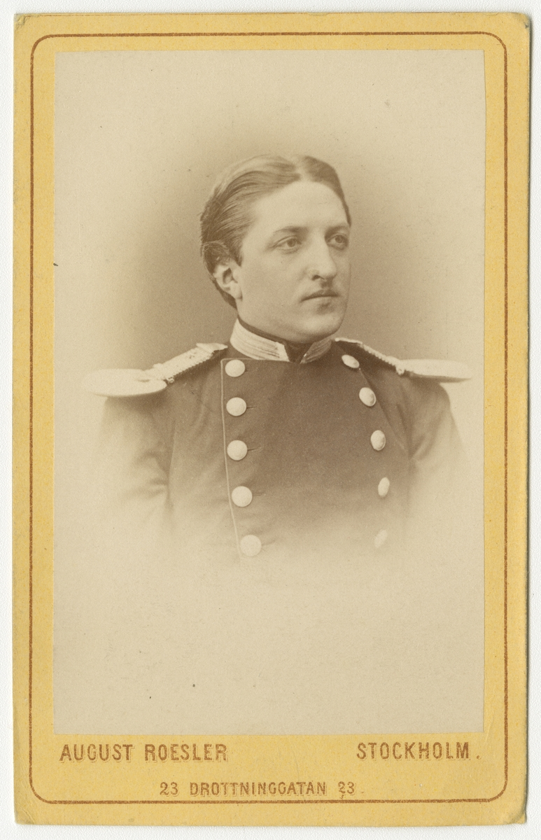Porträtt av Johan Gustaf Odencrantz, löjtnant vid Andra livgrenadjärregementet I 5.
