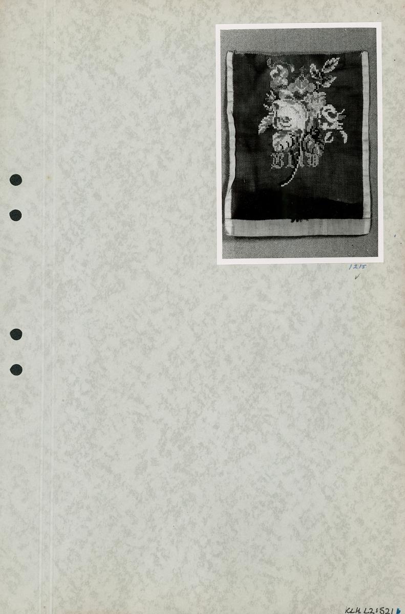 Kartongark med foto av bröstlapp.