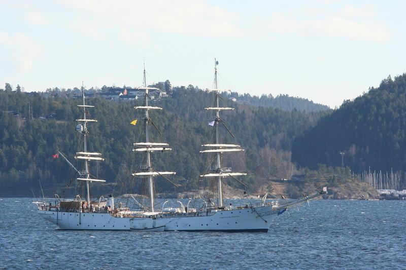 Christian Radich ligger i karantene i Bunnefjorden, Oslo (Foto/Photo)