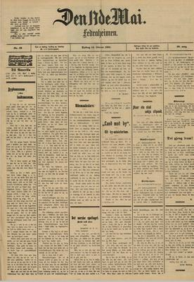 Forsiden på «Den 17de Mai» en dag i 1911.. Foto/Photo