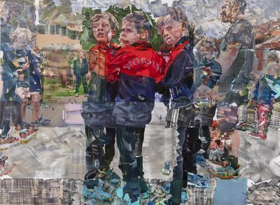 Wager Kira, Eiksmarka 1.8, 2019, oil on PVC, 139 x 185 cm. foto Øystein Thorwaldsen (Foto/Photo)