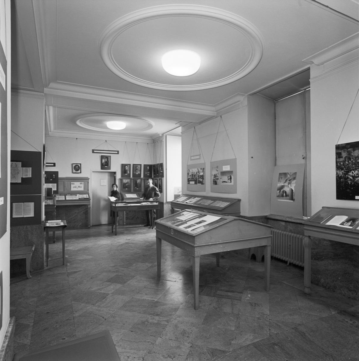 Carolina Rediviva, utställning, Uppsala, april 1962