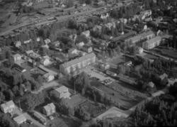 Flygfoto över Vansbro.