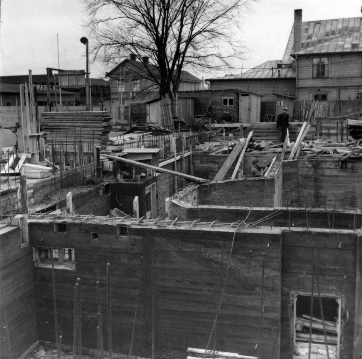 Nya Länsmuseet i Jönköping under uppbyggnad.