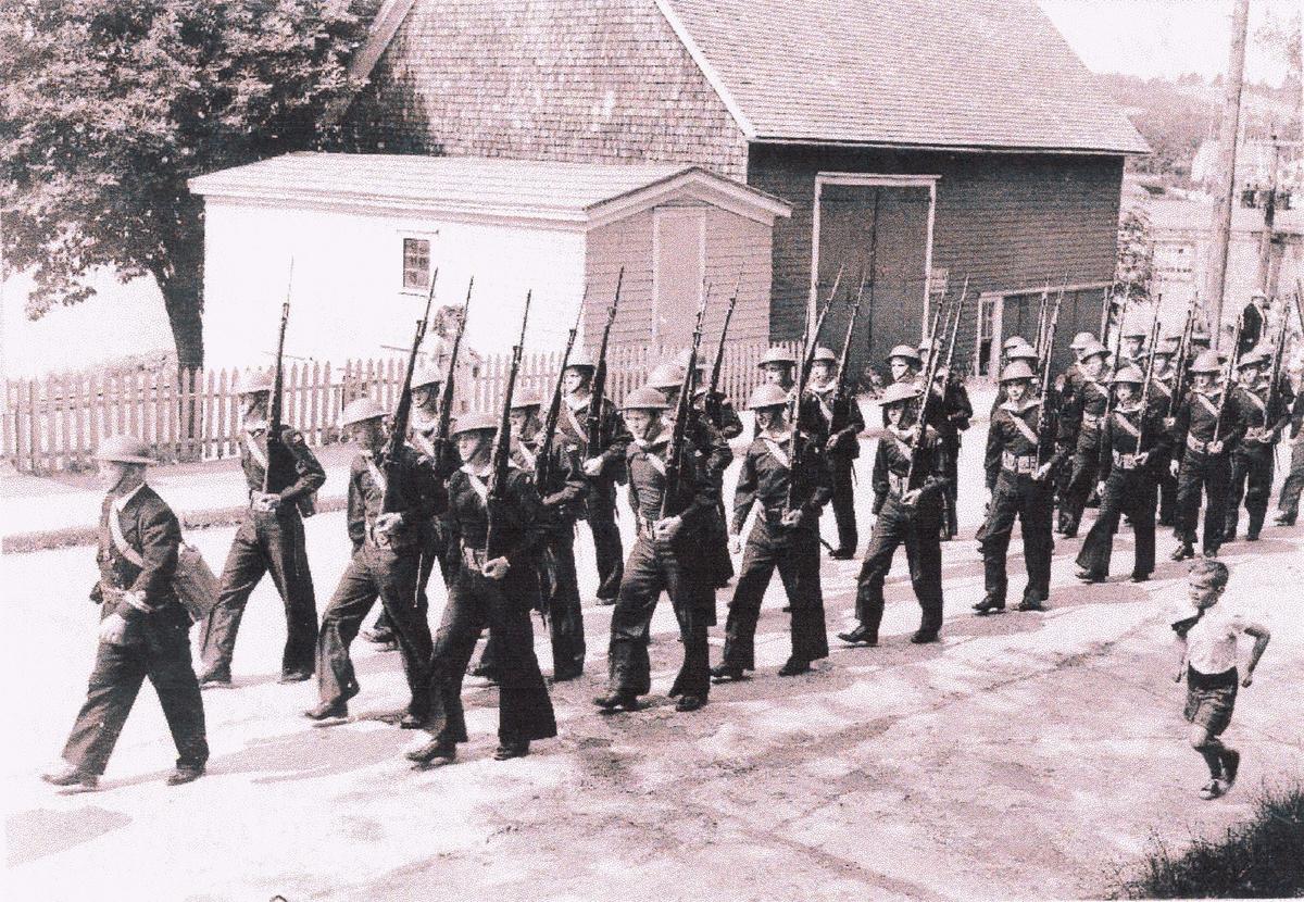 Camp Norway, parade 1942