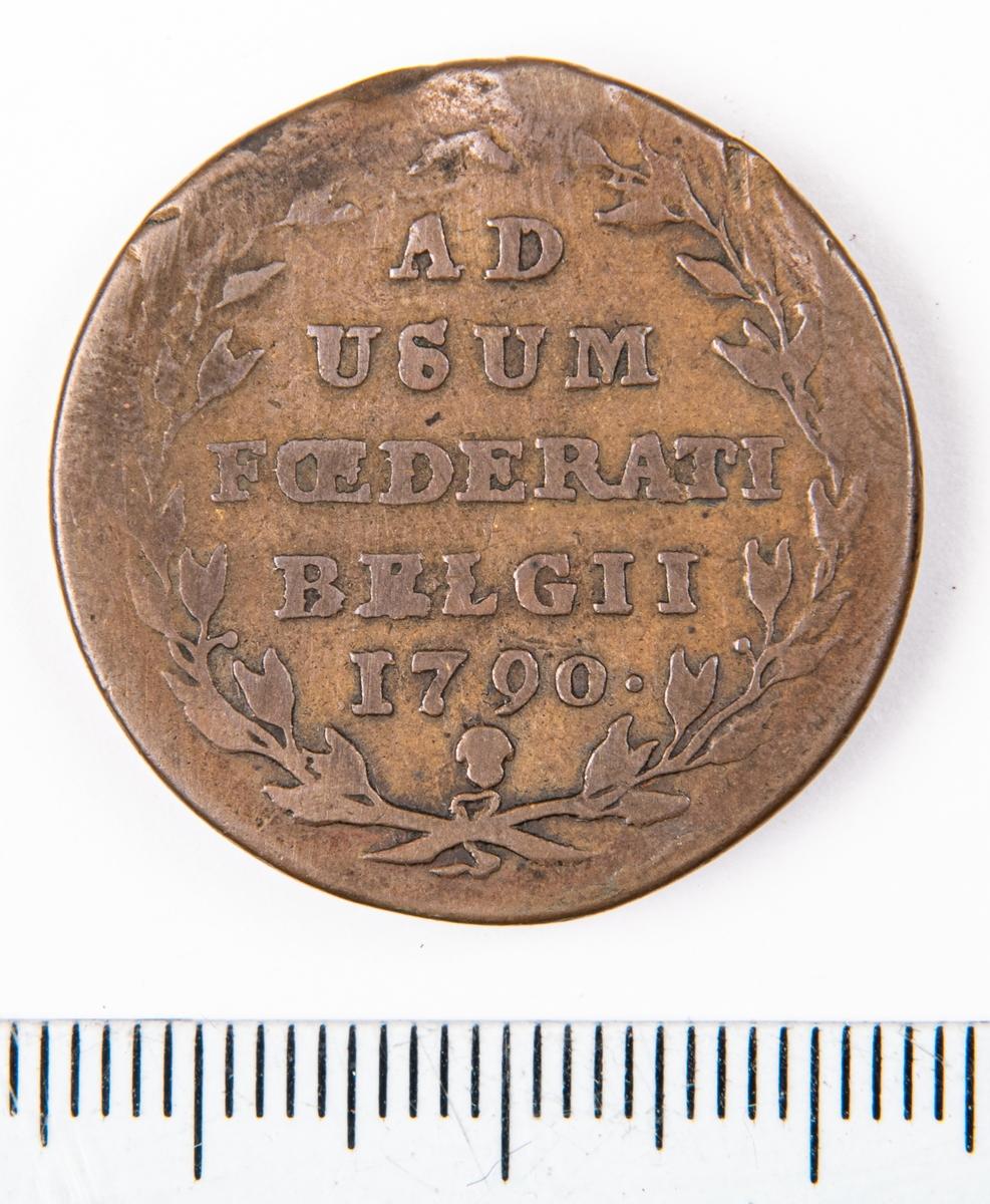 Mynt, Belgien (Österrikiska Nederländerns), 1790, 2 Liards.