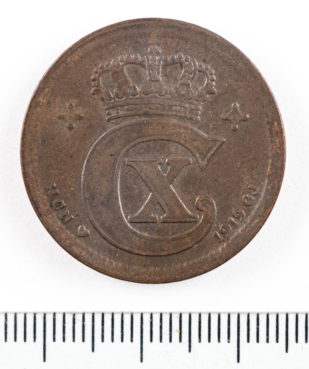 Mynt, Danmark, 1919, 5 Öre.
