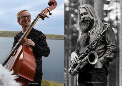 Sigurd Hole med sin kontrabass og Trygve Seim med sin saksofon.