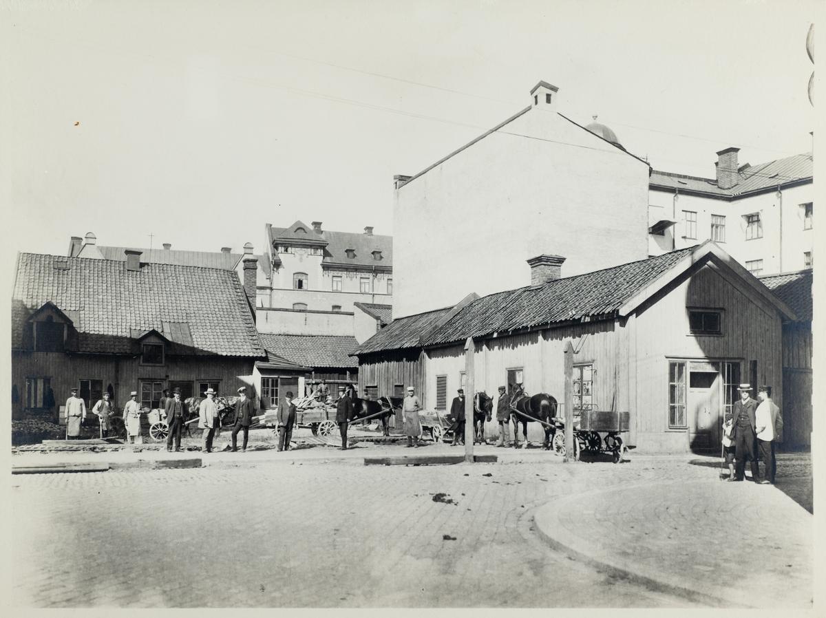 Järntorgsgatan 7 före byggandet av G.O.V Lindgrens hus.