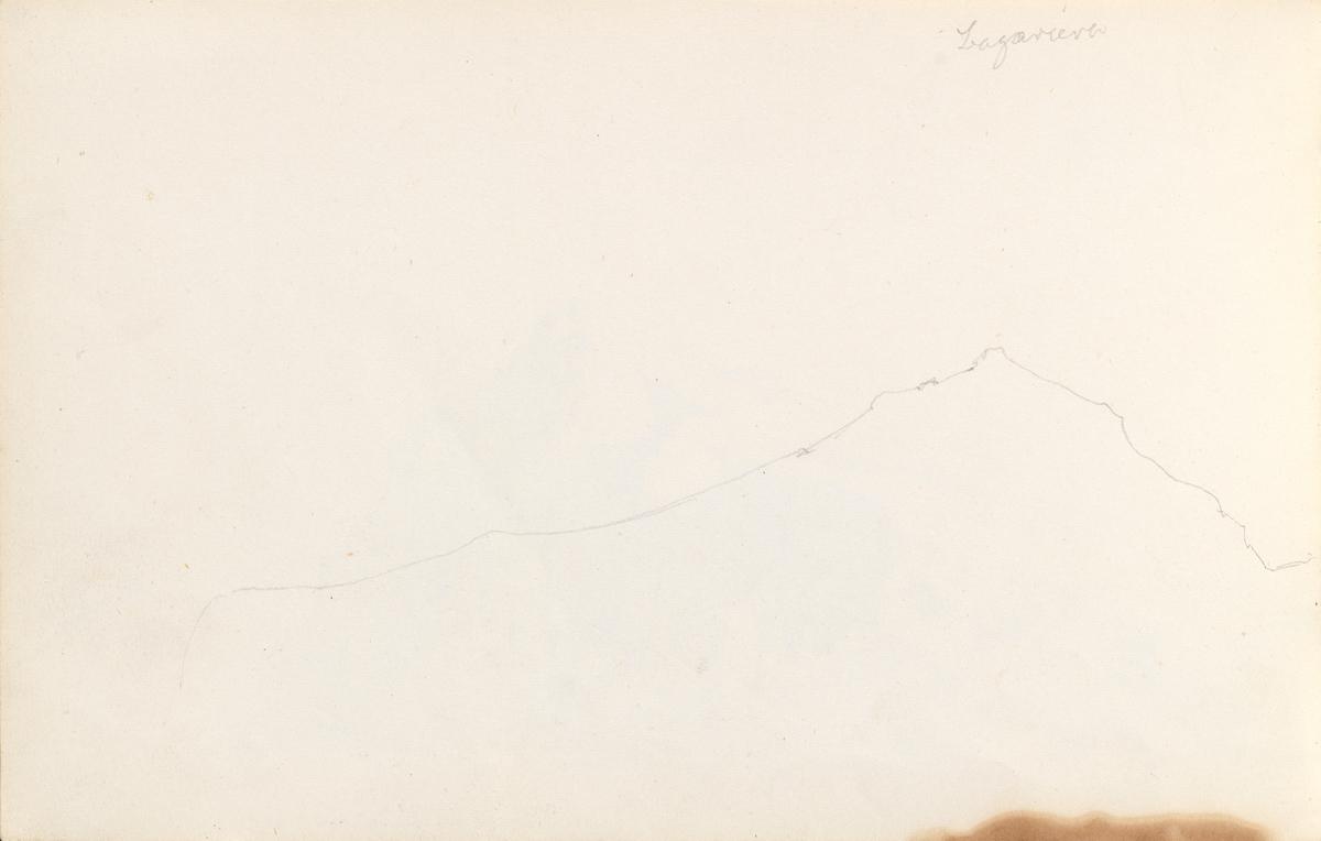 Capri sett fra sør (fragment) [Tegning]