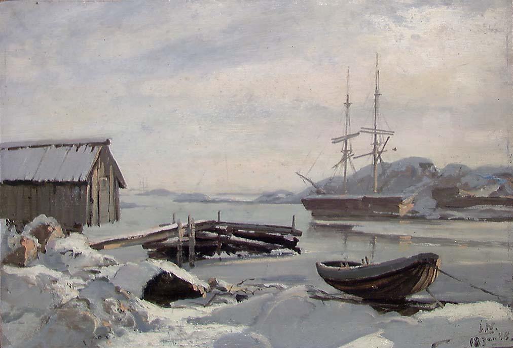 Fra Koholmen ved Kristiansand [Maleri]
