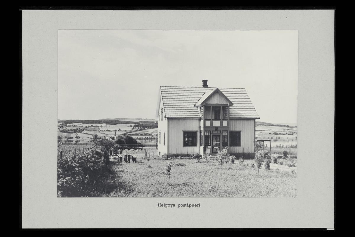 eksteriør, poståpneri, Helgøya, postkasse, postskilt