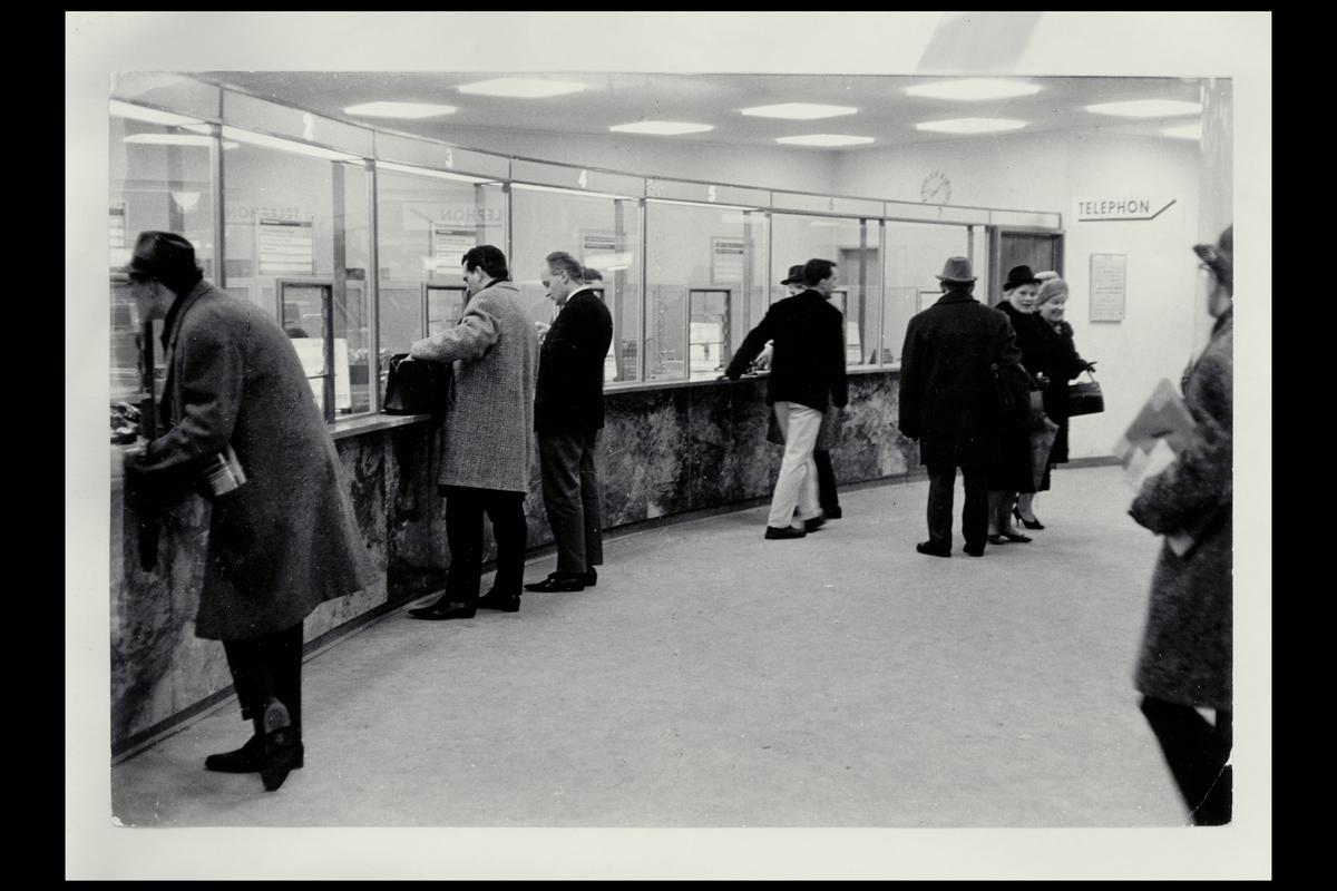 interiør, postkontor, 0129 Hammersborg, publikumshallen, kunder