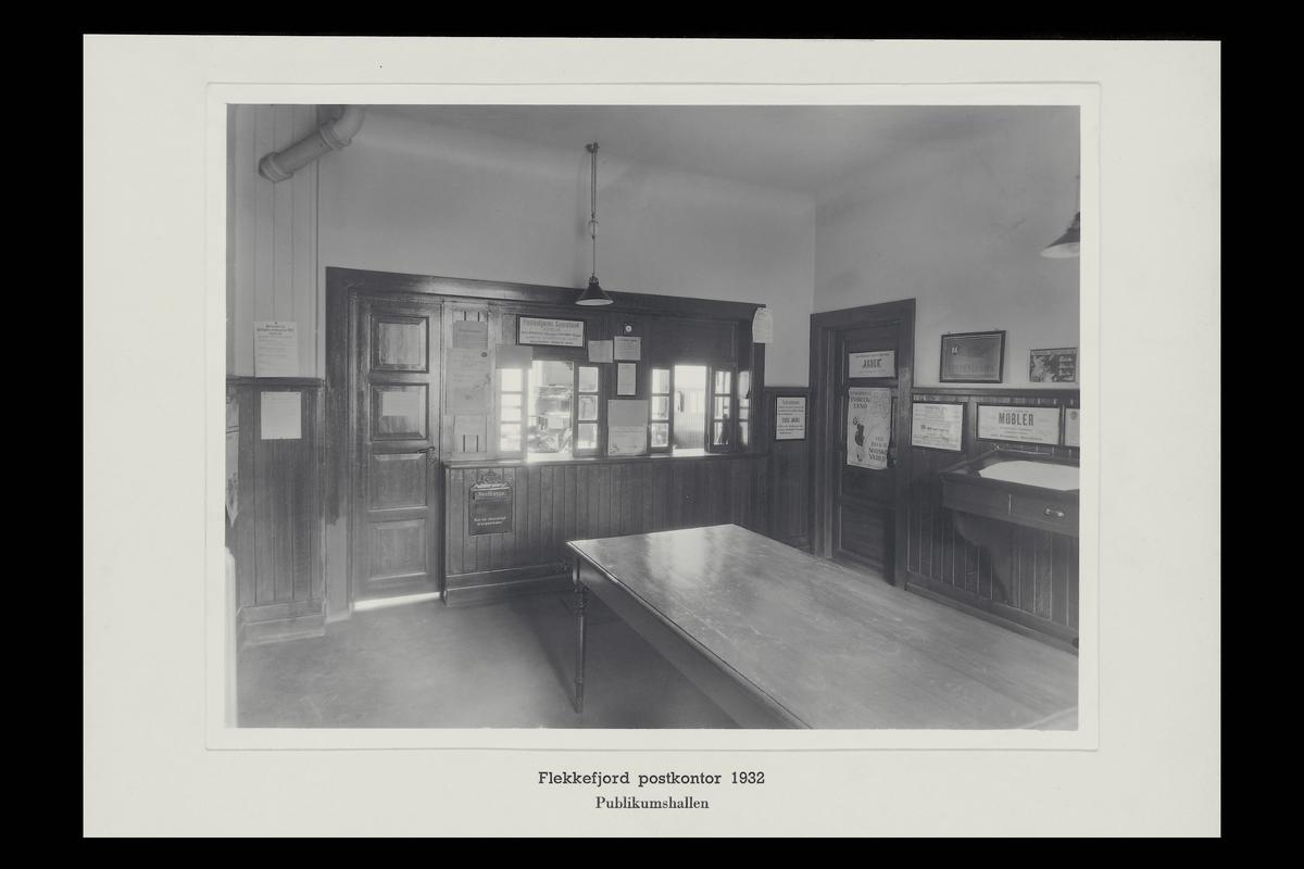 interiør, postkontor, 4400 Flekkefjord, publikumshall, innstikkpostkasse