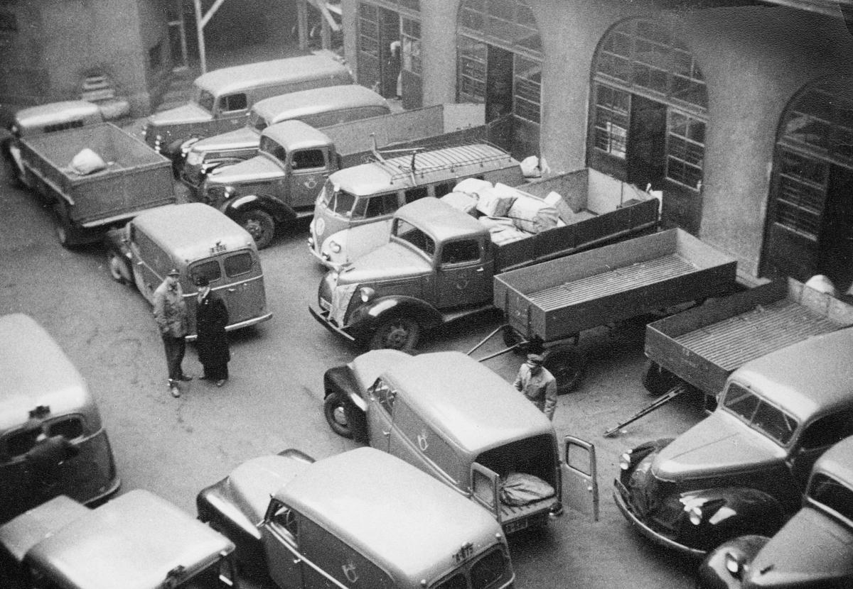 transport, bil, Oslo postgård, biler, hengere, personale