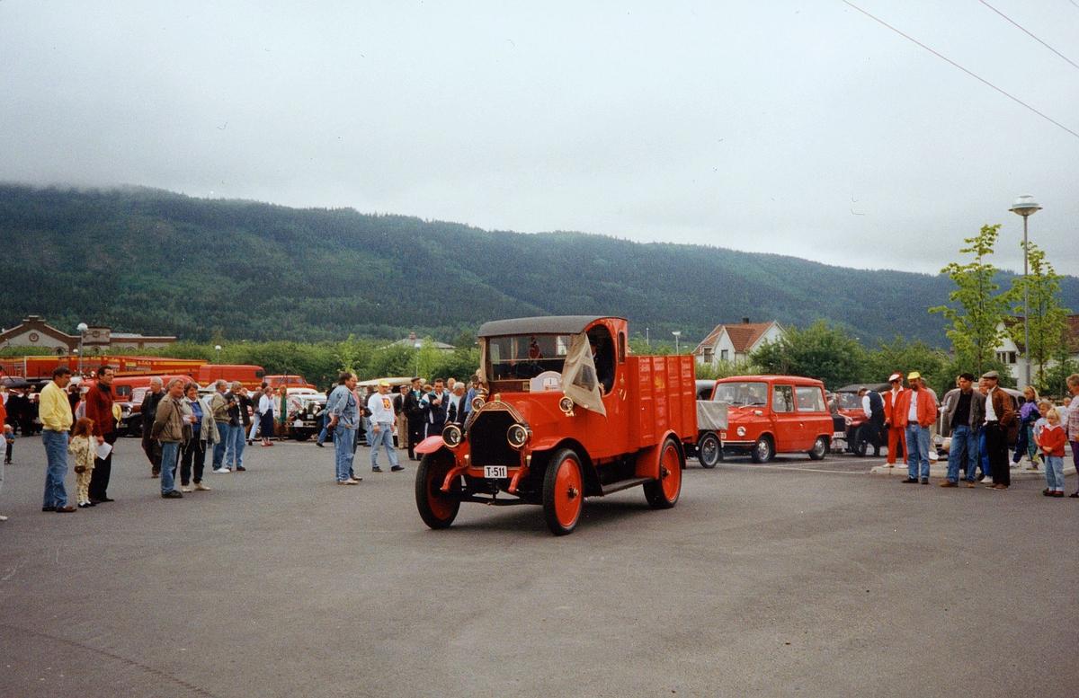 transport, bil, Drammen, postbil, Fiat lastebil mod. 1914, veteranbilløp