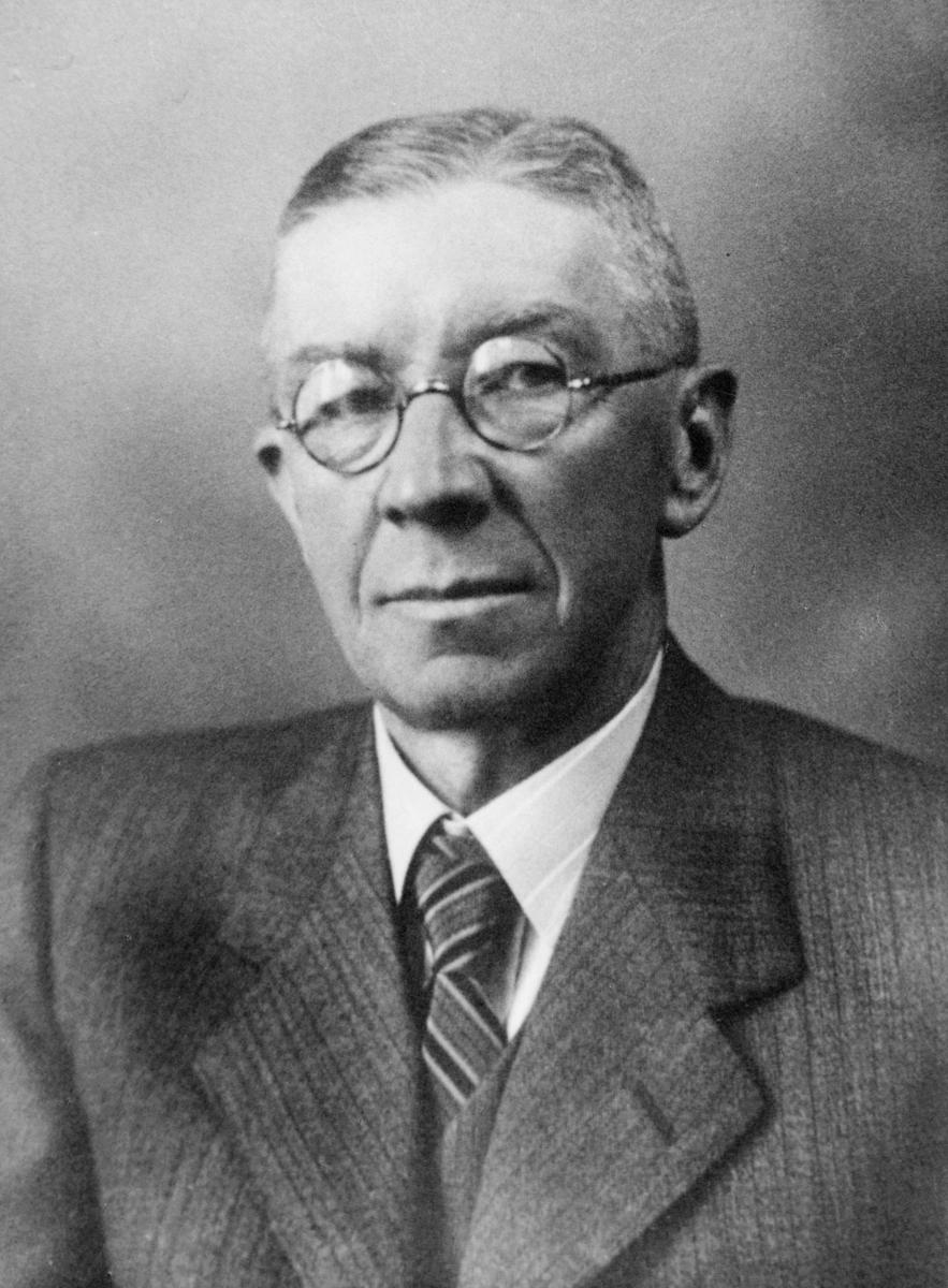 portrett, postmester, Johannes Bjerkan