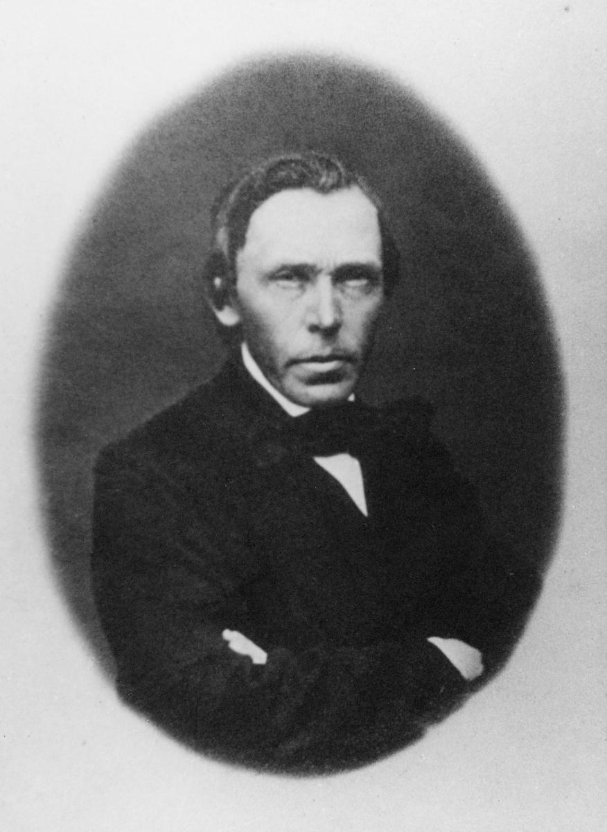 portrett, postmester, kst., Levor Andreas Hanssøn