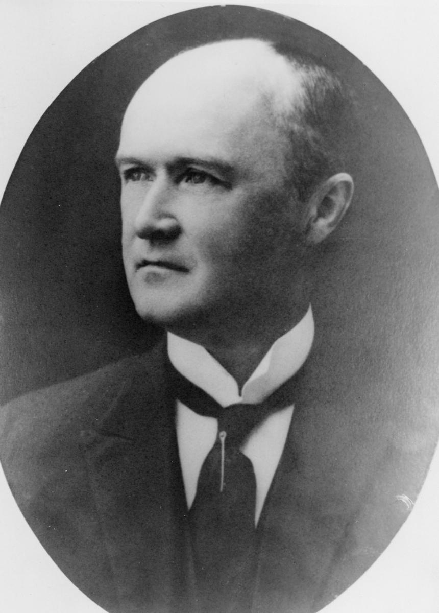 portrett, postmester, Herman Kollert