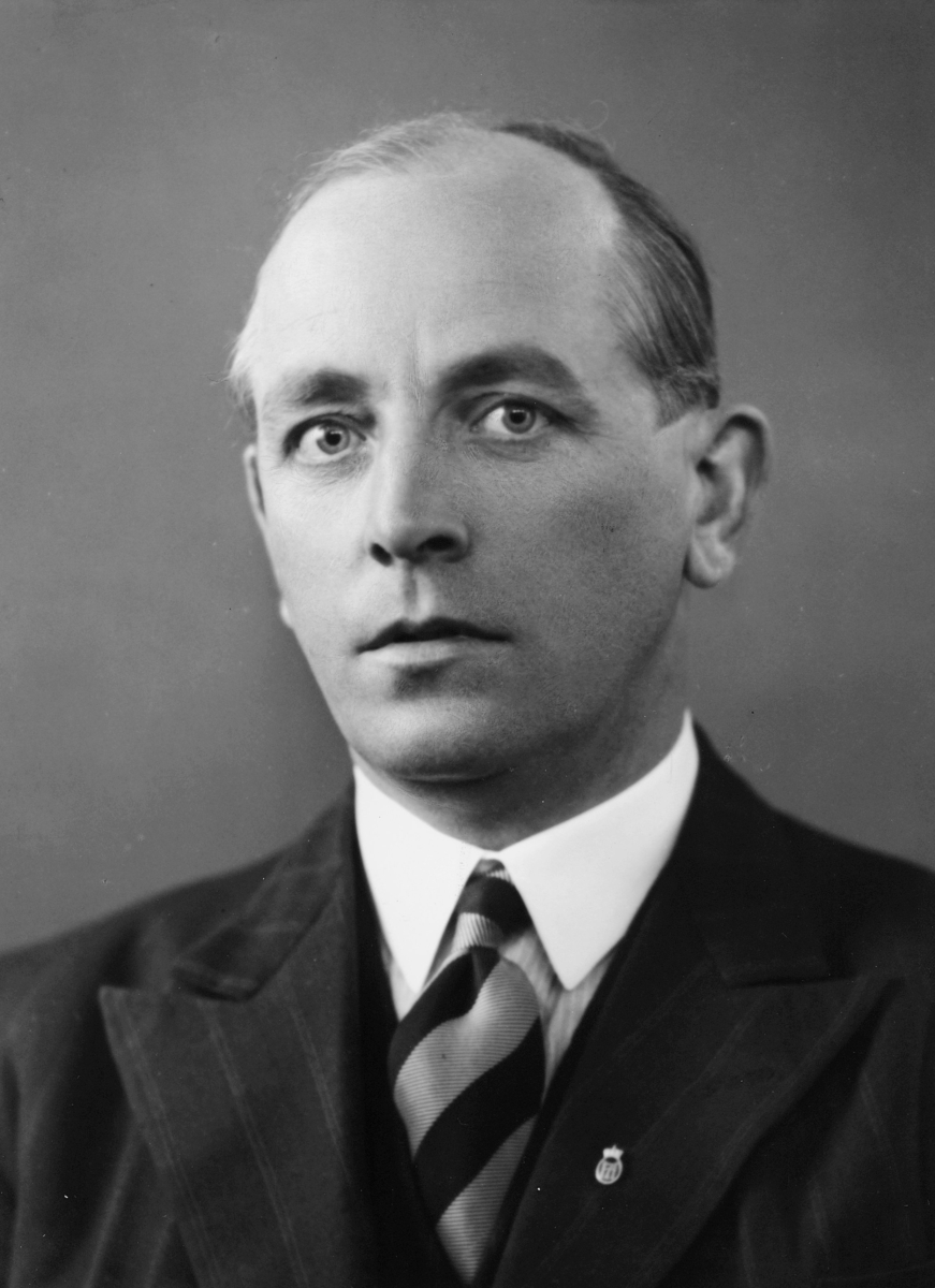 postinspektør, Tønnesen Wilhelm Anker, portrett