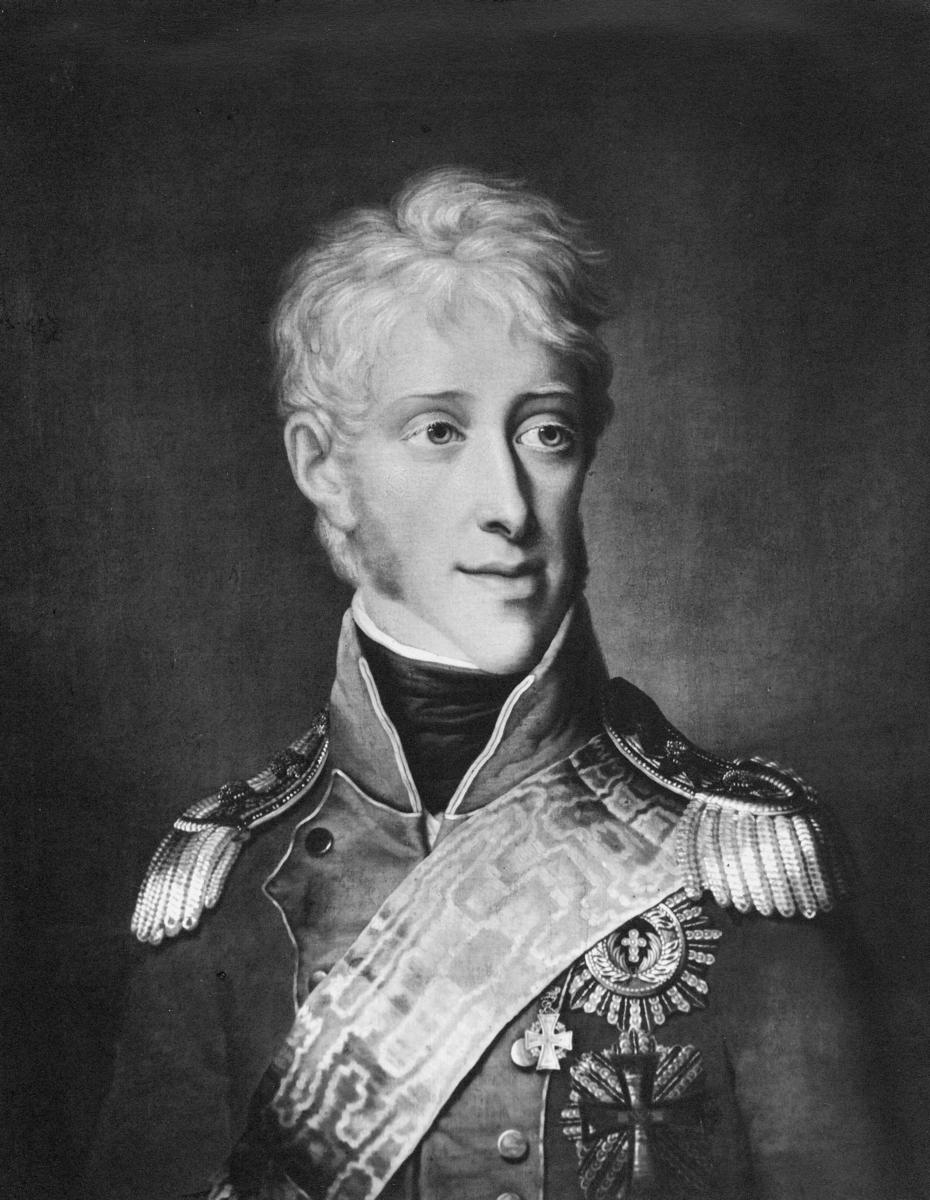 portrett, mann, kong Fredrik 6.