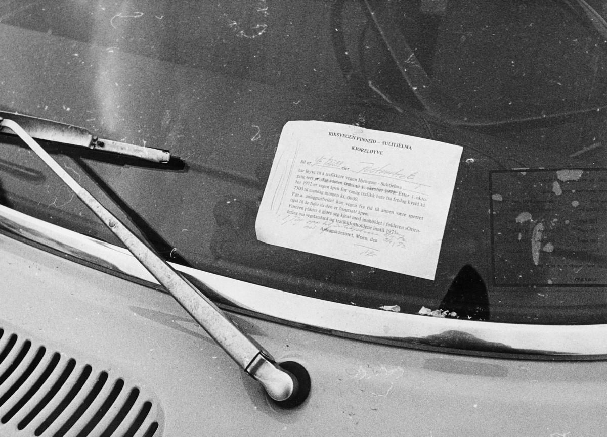 norgesbilder, 8230 Sulitjelma, kjøreløyve på bil