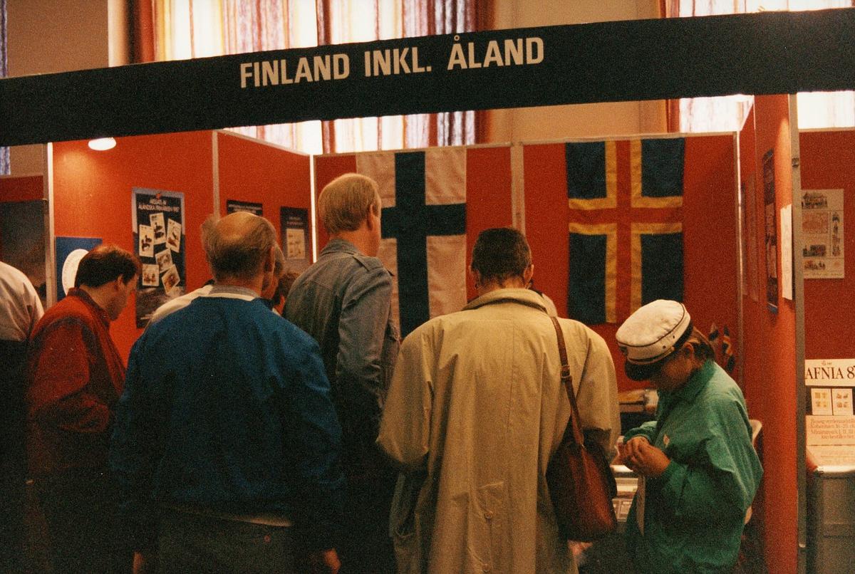frimerkets dag, Oslo Rådhus, stands for Finland inkl. Åland, kunder