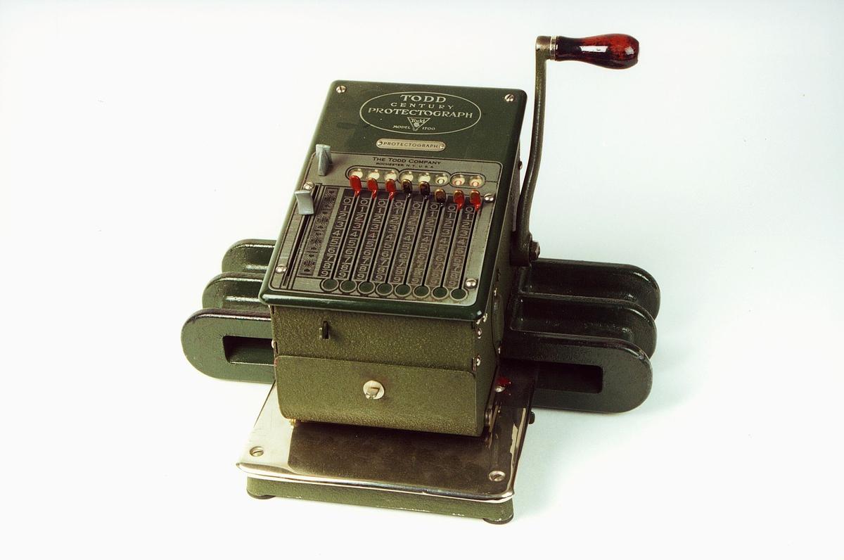 Postmuseet, gjenstander, sikringsmaskin, Todd Modell 1700 B248 P1734.